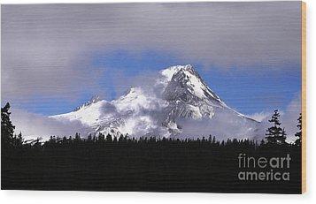 Mt. Hood- Oregon Wood Print by Howard Koby