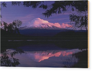 Mt. Hood Sunrise Wood Print by Ken Dietz
