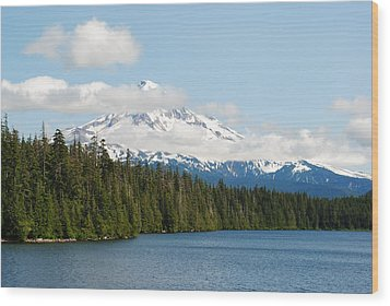 Mt Hood View From Lost Lake Wood Print
