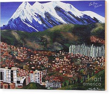 Mt Illimani La Paz Bolivia Wood Print
