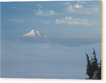 Wood Print featuring the photograph Mt. Jefferson by Ken Dietz