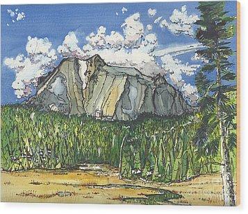 Mt Lassen Wood Print by Terry Banderas