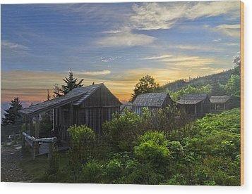 Mt Leconte Before Dawn Wood Print by Debra and Dave Vanderlaan