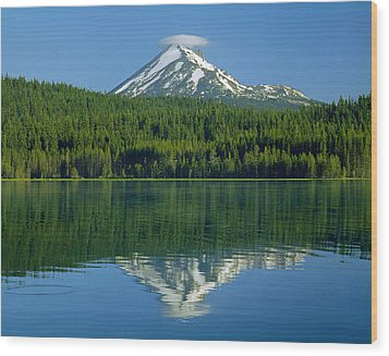 1m5705-h-mt. Mcloughlin From Lake Of The Woods Wood Print