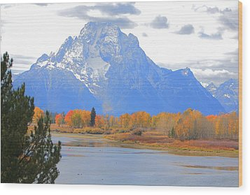 Mt. Moran Majesty Wood Print