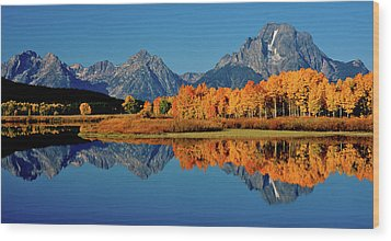 Mt. Moran Reflection Wood Print