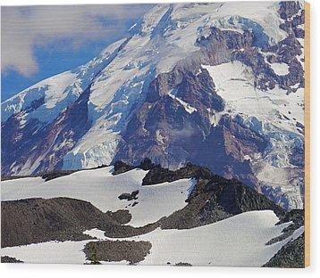 Mt Rainier From Spray Park Wood Print