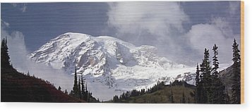 Wood Print featuring the photograph Mt Rainier  by Greg Reed