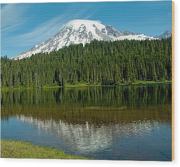 Mt. Rainier II Wood Print by Tikvah's Hope