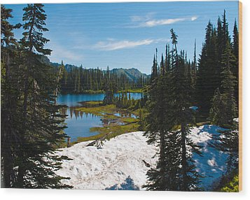 Mt. Rainier Wilderness Wood Print by Tikvah's Hope