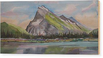 Mt. Rundle Wood Print by Mohamed Hirji