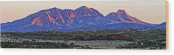 Mt Sonder Sunrise Wood Print by Paul Svensen