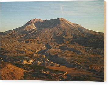 Mt St Helens From Johnsons Observatory Wood Print by Jeff Swan