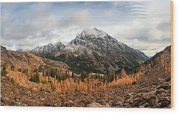Wood Print featuring the photograph Mt. Stuart by Brian Bonham