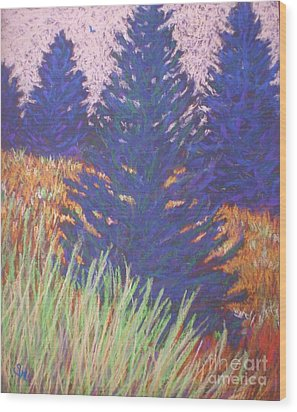 Mt. Tabor Trees Wood Print by Suzanne McKay
