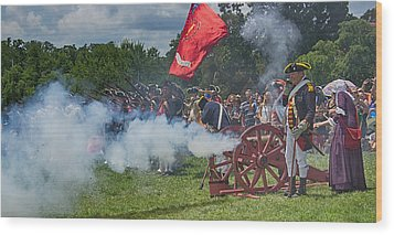 Mt Vernon Cannon Fire 4th Of July Wood Print by Jack Nevitt