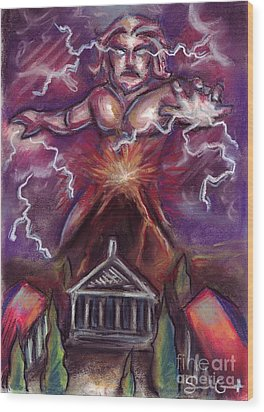 Mt. Vesuvius - Jupiter's Fury Wood Print