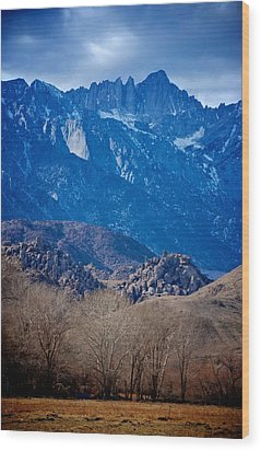 Mt. Whitney And Alabama Hills Wood Print by Eric Tressler