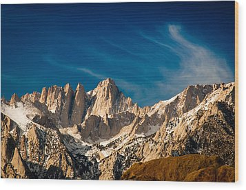 Mt Whitney On A Winter Day Wood Print