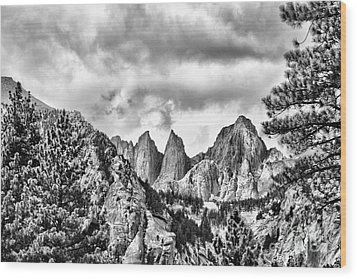 Wood Print featuring the photograph Mt. Whitney by Peggy Hughes