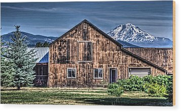 Wood Print featuring the photograph Mt. Adams by Thom Zehrfeld