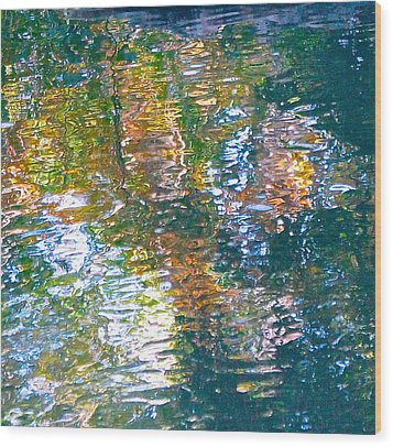 Mud Creek Reflection Wood Print