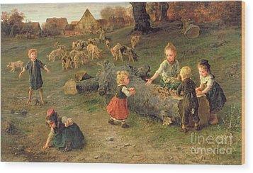Mud Pies Wood Print by Ludwig Knaus