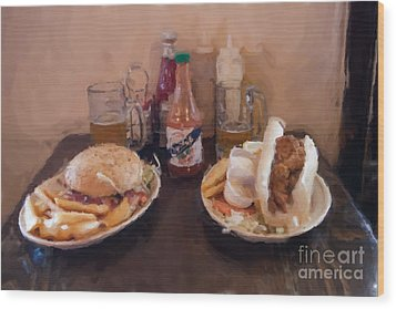 Muffaletta And Po-boy Wood Print by Kay Pickens