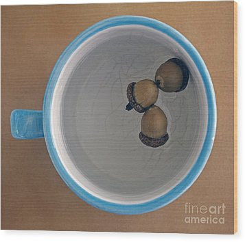 Wood Print featuring the photograph Mug And Finials 1 by Sebastian Mathews Szewczyk