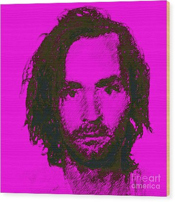 Mugshot Charles Manson M88 Wood Print by Wingsdomain Art and Photography