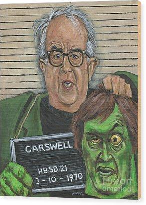 Mugshot Of Mr. Carswell Aka The Creeper Wood Print by Mark Tavares