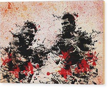 Muhammad Ali 2 Wood Print by Bekim Art