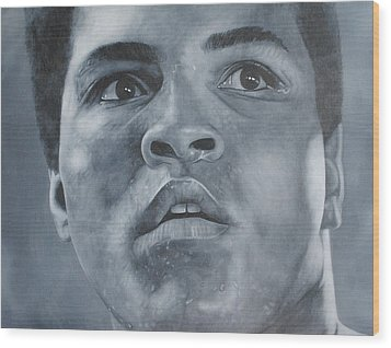 Wood Print featuring the painting Muhammad Ali by David Dunne