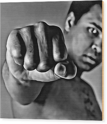 Muhammad Ali Fist Wood Print