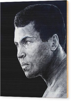 Muhammad Ali Formerly Known As Cassius Clay IIi Wood Print by Jim Fitzpatrick