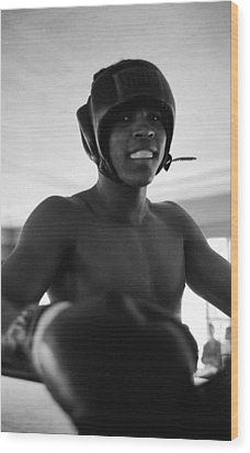 Muhammad Ali Looks Into Camera Wood Print by Retro Images Archive