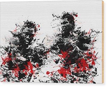 Muhammad Ali Wood Print by Bekim Art