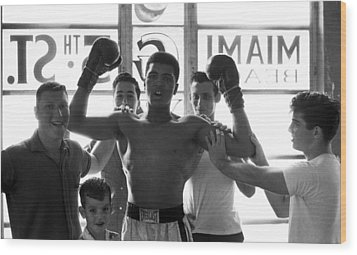 Muhammad Ali Raising Arms Wood Print by Retro Images Archive