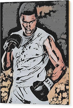 Muhammad Ali Wood Print by Tanysha Bennett-Wilson