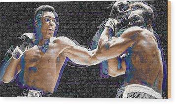 Muhammad Ali Wood Print by Tony Rubino