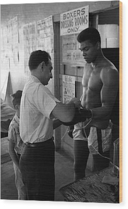 Muhammad Ali With Trainer Wood Print by Retro Images Archive
