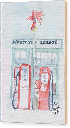 Mukilteo Garage Wood Print