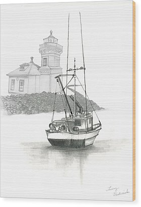 Mukilteo Lighthouse Wood Print by Terry Frederick