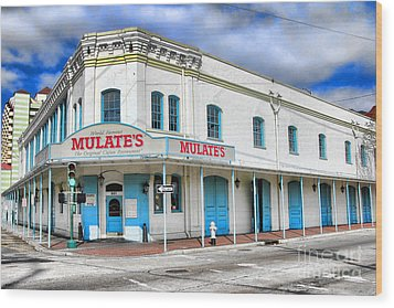 Mulates New Orleans Wood Print by Olivier Le Queinec