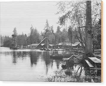 Wood Print featuring the photograph Mullens Resort On Paterson Lake Summer 1928 by Vibert Jeffers
