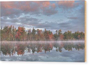 Mullica River Sunrise Wood Print