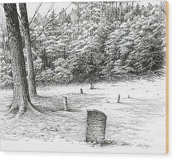 Mullin's Cemetery Wood Print by Bob  George