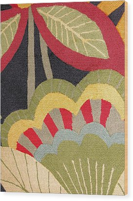 Wood Print featuring the photograph Multi-colored Flowers Leaves Textile by Janette Boyd