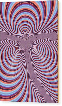 Multi-coloured Abstract Design Wood Print by Paul Sale Vern Hoffman