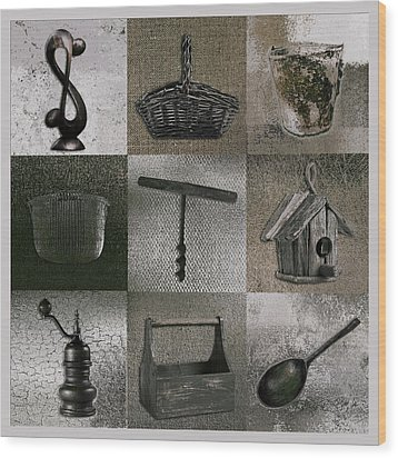 Multi Home Decor - 01v2f4c Wood Print by Variance Collections